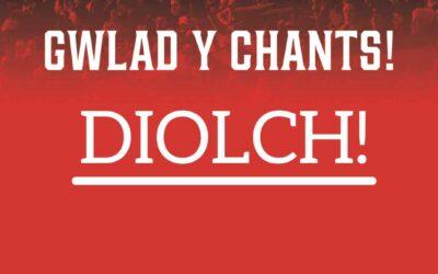 Gwlad y Chants: Pleidleisiwch am eich hoff 'chant' i gefnogi Cymru