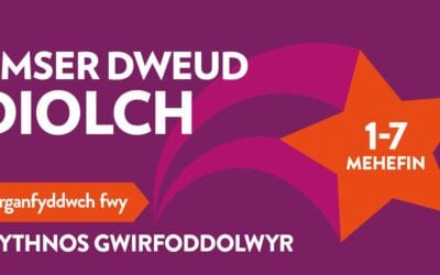 Dathlu Wythnos Gwirfoddolwyr dros Gymru